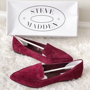 ✨New STEVE MADDEN Feather Suede Point Loafer Flats